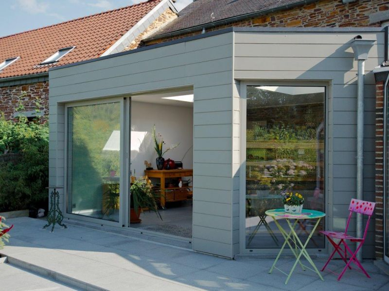 Extension Maison Sur Une Terrasse Namur Lige With Prix Extension Maison M  With Maison Bois 20m2