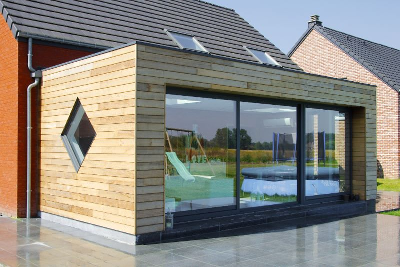 Extension maison bois kit belgique for Tarif extension