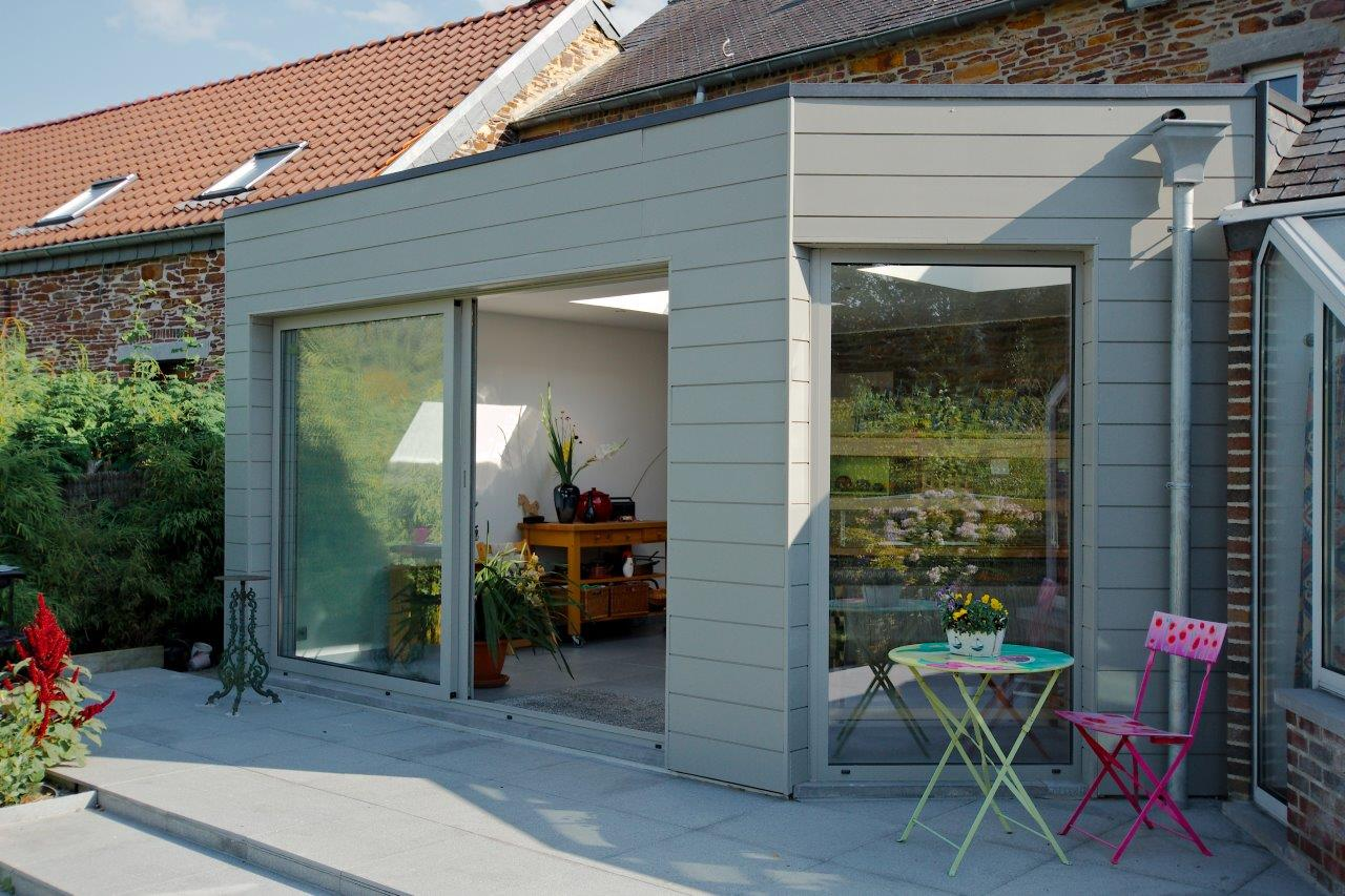 Extension maison sur une terrasse namur li ge for Extension sur terrasse