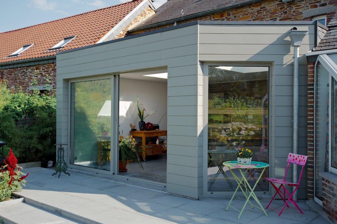 extension maison sur une terrasse namur li ge. Black Bedroom Furniture Sets. Home Design Ideas
